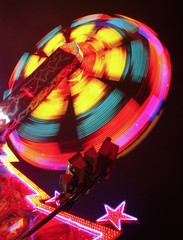 Amusement Park Ride spinning