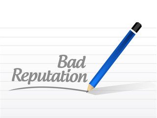 bad reputation sign message illustration