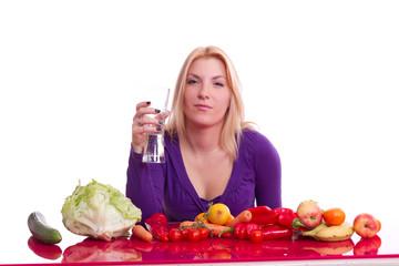 Frau lebt gesund - gesunde Ernährung