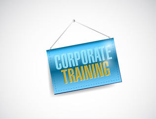 corporate training hanging sign