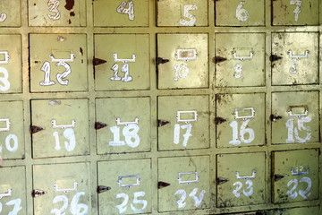 PO.boxes in post office. Pokhara-Nepal. 0741
