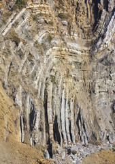 Folded Limestone Strata of Stair Hole, Lulworth Cove