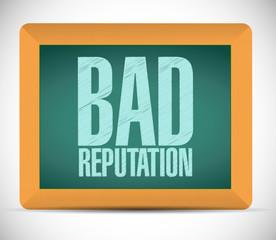 bad reputation board sign illustration design