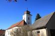 canvas print picture - Kleine Dorfkirche