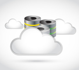 white clouds and storage illustration
