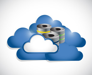 cloud computing and servers illustration design