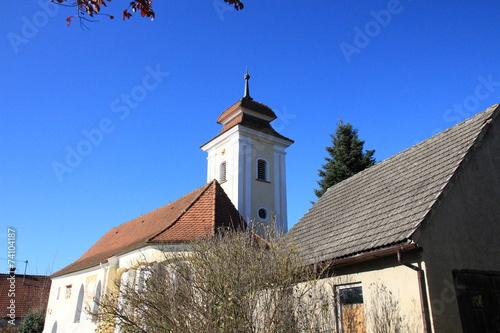 canvas print picture Kleine Dorfkirche