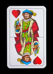 Spielkarten - Schnapskarten in Herz Ober - Hermann Geszler
