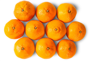 Ripe Juicy Orange Tangerines