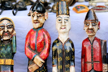 Traditional wooden figurines. Pokhara-Nepal. 0755