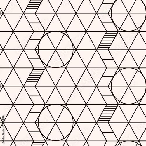 Seamless pattern. Geometric texture © olhakostiuk