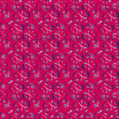 Pattern in crimson color