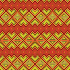 Seamless ethnic motif pattern
