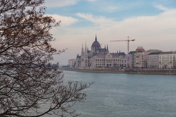 View of the Hungarian Parliament Building, Budapest