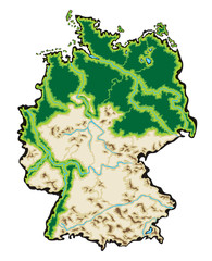 Germany Map Vector Illustration isolated on a white background