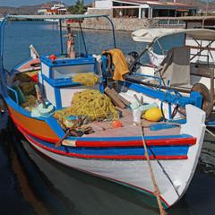 Fishing boat in Elounda (Crete, Greece).