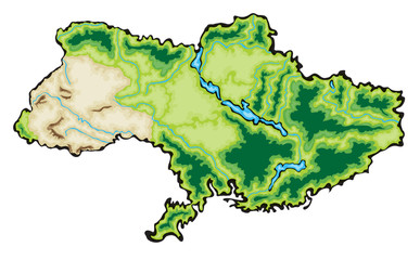 Ukraine Map Vector Illustration isolated on a white background