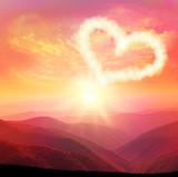 Fototapety heart cloud