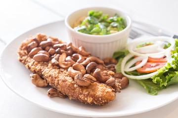 Thai Style Steak Fish with Green Mango Salad