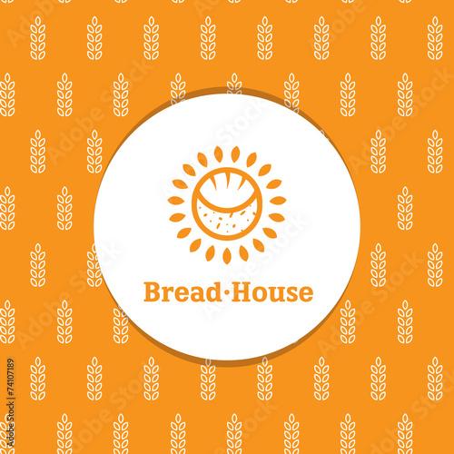 Vector sunny minimalistic bakery logotype with decorative - 74107189