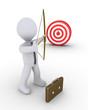 Businessman aiming at a target