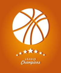 Sports design over orange background vector illustration