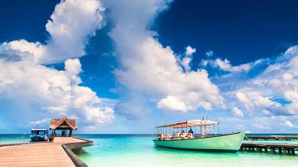 Embarcadero en Maldivas