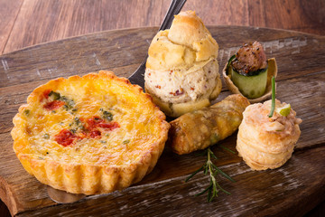 Savory pastry selection