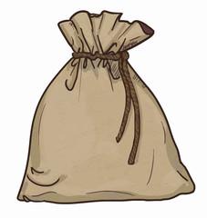 Canvas sack vector. canvas bag. Illustration of a canvas sack