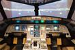 Постер, плакат: inside of homemade flight simulator cockpit