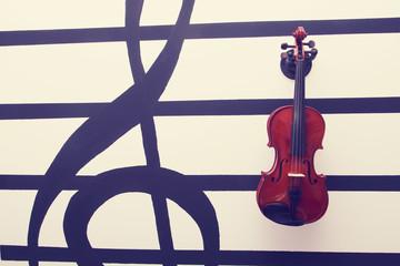 violin retro processing