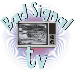 Old retro television with a bad signal. Bad signal tv