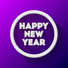 White Abstract New Year Badge