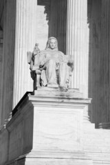 The Contemplation of Justice statue