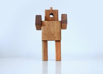 Wooden man figure