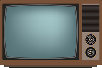 Old TV. Vector illustration