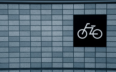 Bike symbol on the wall