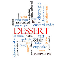 Dessert Word Cloud Concept