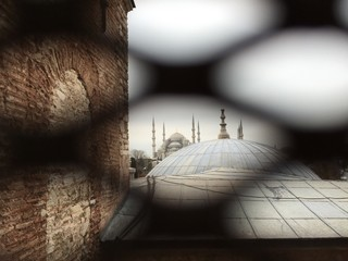 Amazing view from a window in Instambul