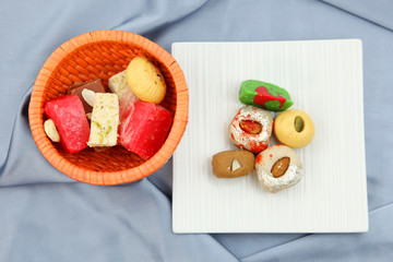 Assorted sweets made in India