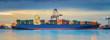 Leinwandbild Motiv Container Cargo freight ship