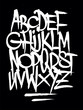Hand style graffiti font alphabet. Vector - 74113134