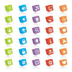 Colorful Web Icon Set