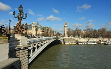 Alexandre III bridge in Paris