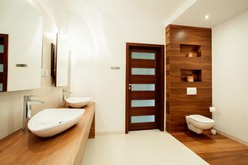Spacious bathroom in new house