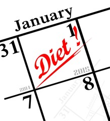 2015 new year's resolution icon - to diet!