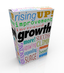 Growth Increase Improve Rise Up More Success Product Package Box