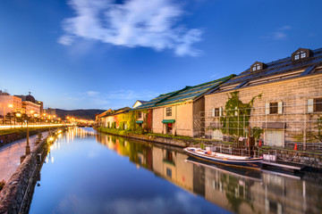 Otaru, Japan Warehouses and Canals