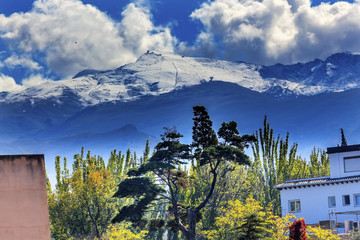 Sierra Nevada Mountains Snow Ski Area Granada Andalusia Spain