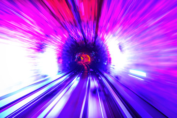 Tunnel Motion Blur in the Shanghai Sightseeing Tunnel